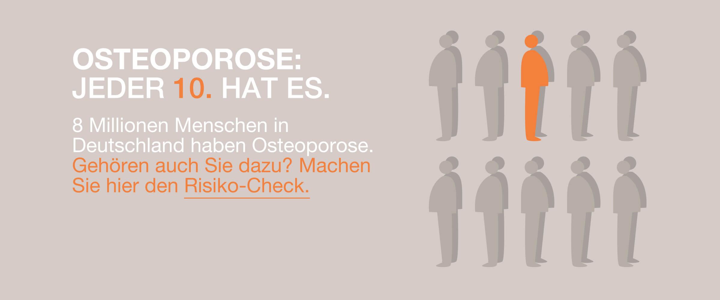 OSTEOPRO, Osteoporose: Jeder 10. hat es.